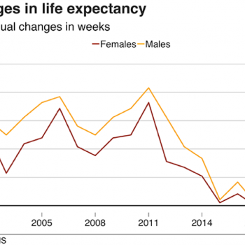 Life expectancy blip?